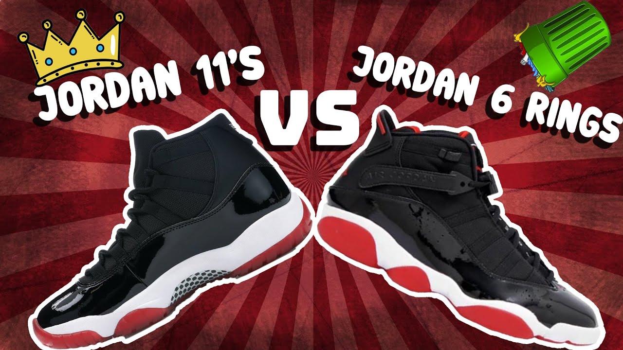 Jordan 6 Rings VS Jordan Retro 11s