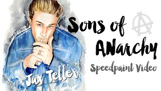 Speed Painting Watercolor - Sons of Anarchy