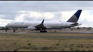 ✈ B757 United Airlines taking off from Lisbon Airport ✈