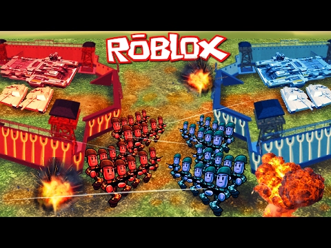 Roblox | RED VS BLUE VS YELLOW VS GREEN BASE WARS! (Roblox Base Conquer)