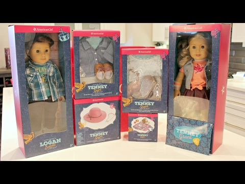 Opening American Girl Doll Tenney & Logan HUGE HAUL | BOY DOLL