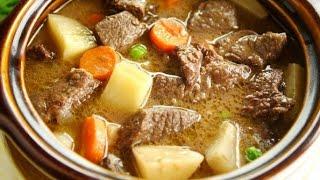 Приготовление жаркого из свинины в духовке/Жаркое с мясом и грибами в духовке/Лёгкие видео рецепты/