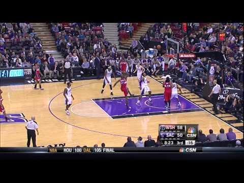 Bradley Beal Highlights, Wizards @ Kings 1/16/2012