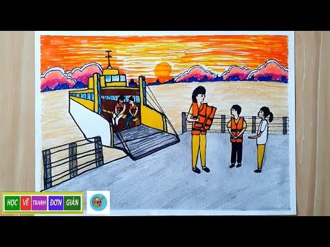 Vẽ Tranh An Toàn Giao Thông Đường Thủy - How to draw safe water traffic - P13