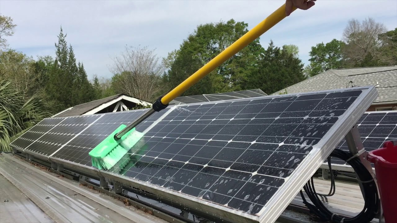 How To Clean Solar Panels And Improve Performance Youtube