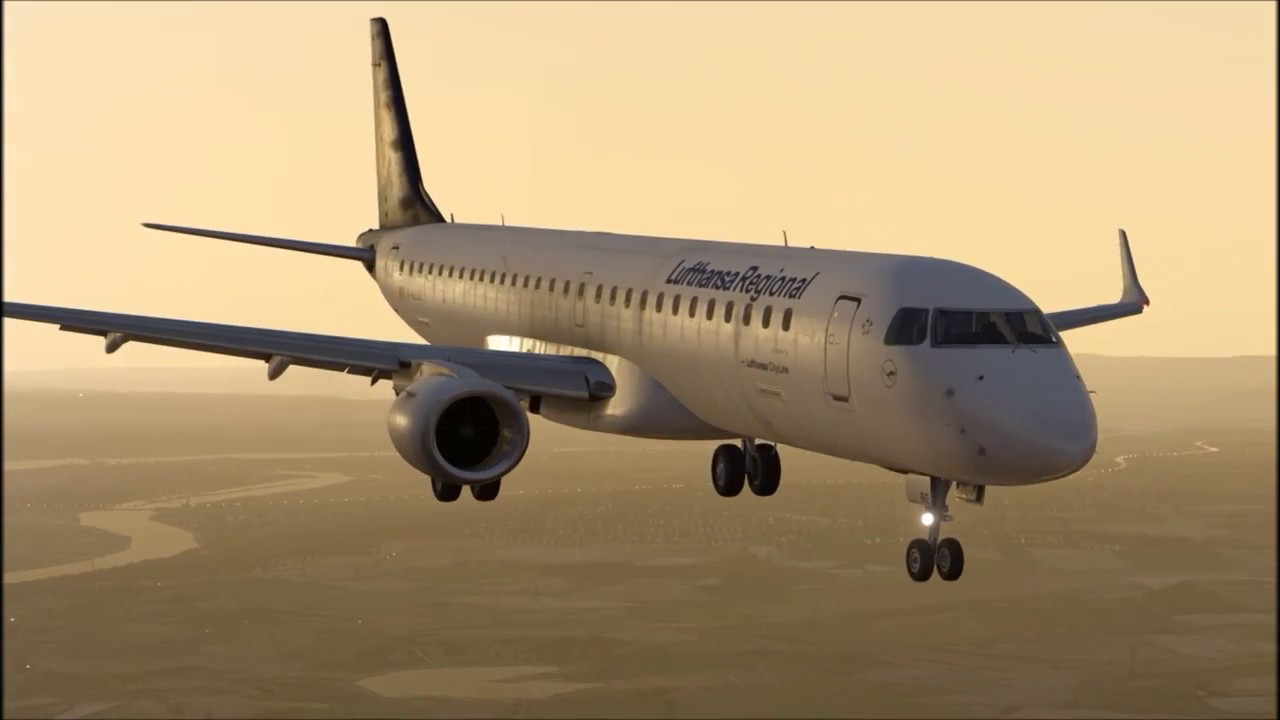 X-Plane 11 - New Airplane Embraer 195 v2 - landing ILS / EDDF