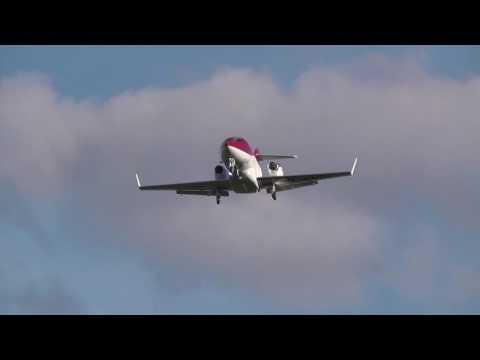 Honda Jet M-HNDA landing at BHX