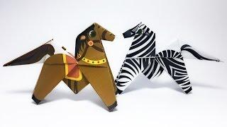 Front Flip Horse Origami tutorial !