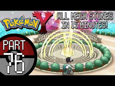 Pokemon X and Y - Part 76: Mega Ring Upgrade and Finding ALL Hidden Mega Stones in 15 Minutes!