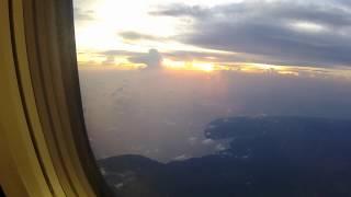 G27MOTOVLOG#23 Pemandangan sore hari di pesawat