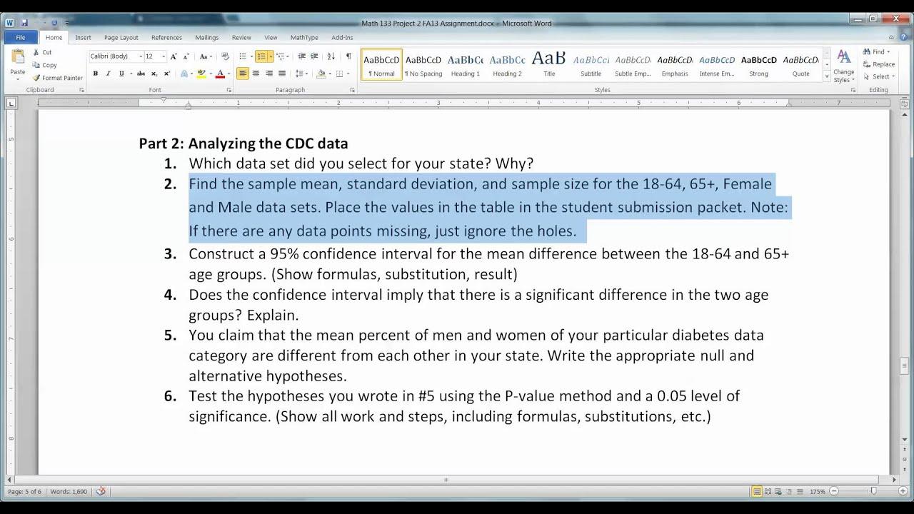statistic project part c