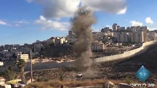 סופת חול-טורנדו בפסגת זאב ירושלים