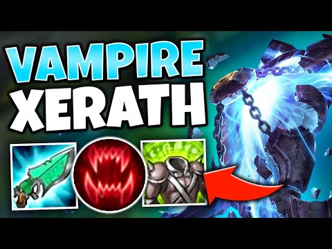 *INFINITE SUSTAIN* VAMPIRE XERATH BUILD HEALS LIKE CRAZY - League of Legends