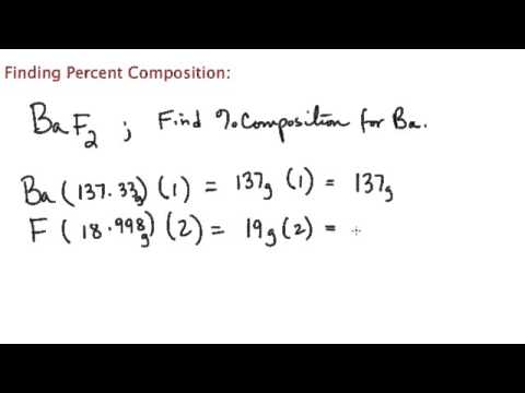 how to find percent composition