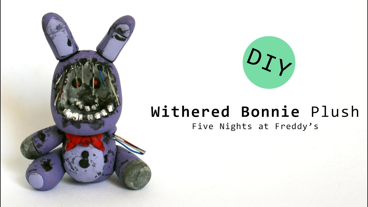 Five nights at freddy s 2 withered bonnie plush polymer clay tutorial