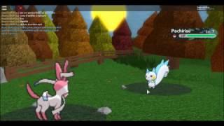 Lucario Plays: Roblox Pokemon Brick Bronze- Eevee Too Sylveon!