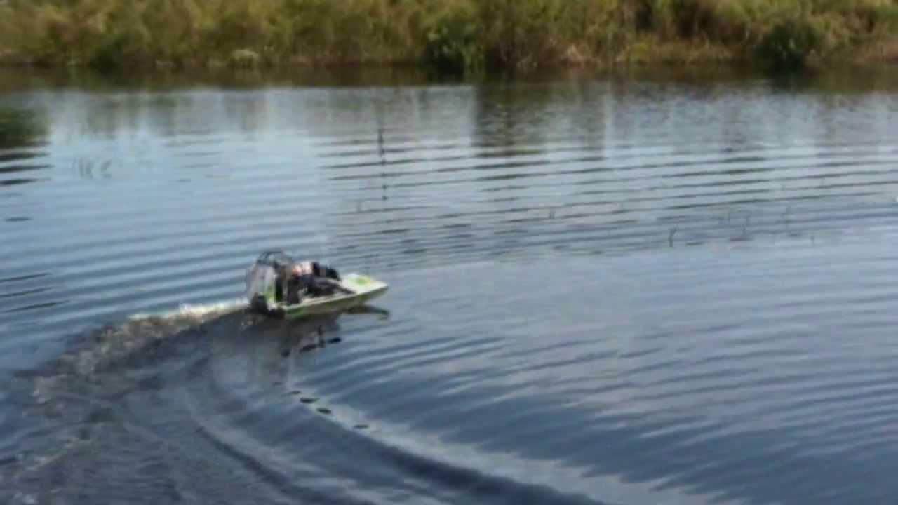 Nitro Powered R/C Aquacraft Alligator Tours Airboat - YouTube