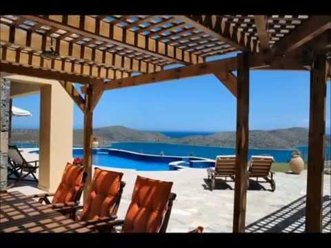 Villa in Elounda, Crete, with sea views, pool, tennis court