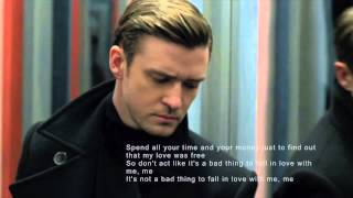 justin timberlake not a bad thing official lyric video