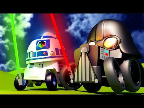 Troy der Zug -  Star Wars Spezial Folge - Der Laserschwert Kampf - Cartoons für Kinder 🚓 🚒