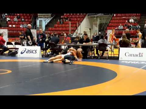 2016 Canadian Senior Championships: 53 kg Miyu Yamamoto vs. Cara Nania