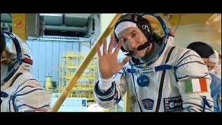 Дорога на космодром  астронавт Лука Пармитано