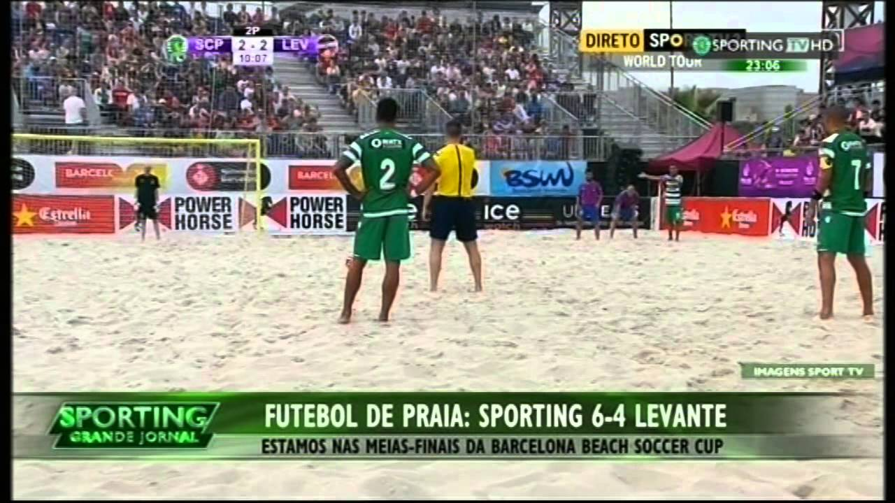 Futebol de Praia :: Sporting - 6 x Levante - 4 de 2015 1/4 Final da Beach Soccer Cup