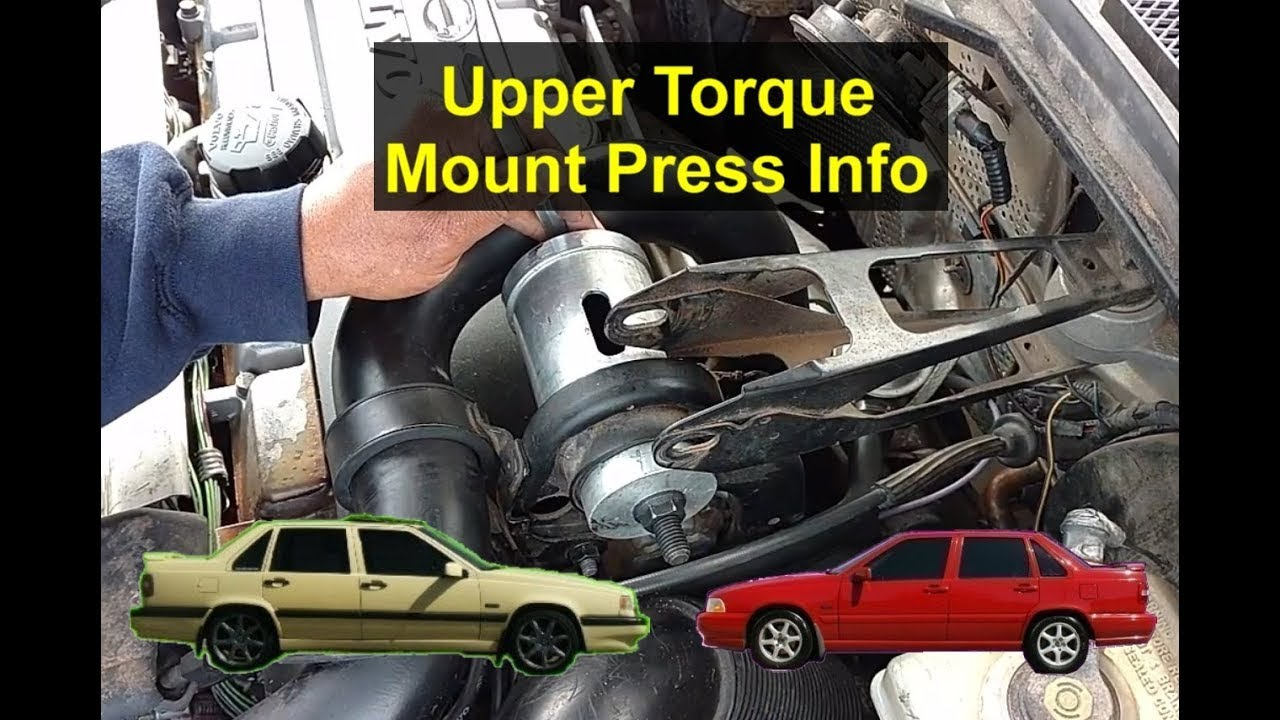 Volvo 850 Egr Valve Clean How To Replace The Upper Engine Torque Mount With Press Etc Youtube 1280x720