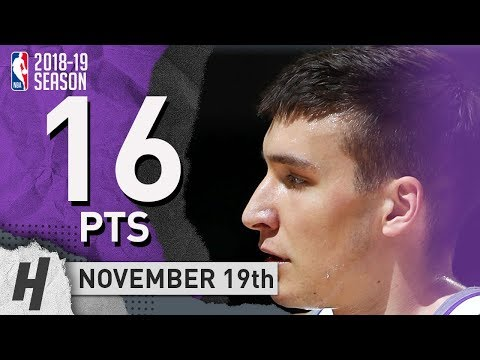 Bogdan Bogdanovic Full Highlights Kings vs Thunder 2018.11.19 - 16 Pts, 3 Ast, 5 Rebounds!