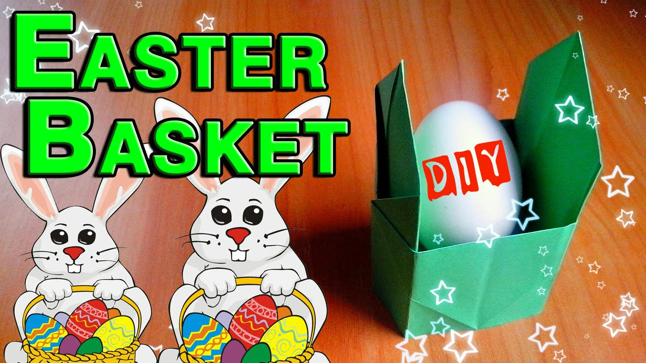 Diy how to make easter basket for children paper craft ideas for diy how to make easter basket for children paper craft ideas for easter day hand made tutorial youtube negle Choice Image