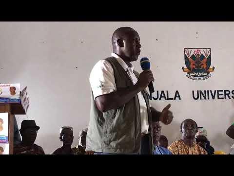 #kky speaking at Njala university (Sierra Leone)