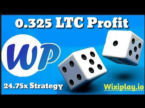 Wixiplay.io | 0.325 LTC Profit | 24.75x Best Strategy