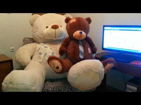 Большие плюшевые мишки Тедди 130 см и Барт 220 см