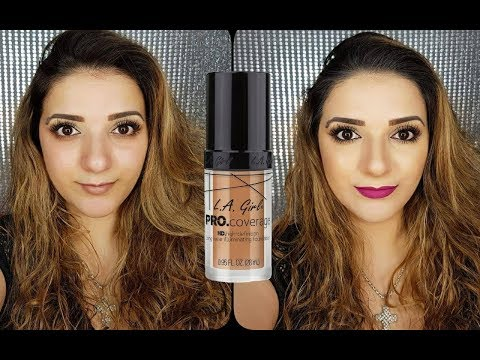 Reseña LA Girl Pro Coverage High Definition foundation