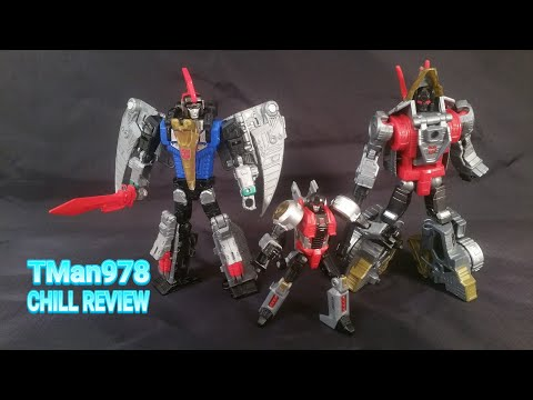 TRANSFORMERS Power of the Primes Dinobot SLASH, SWOOP & SLUG CHILL REVIEW