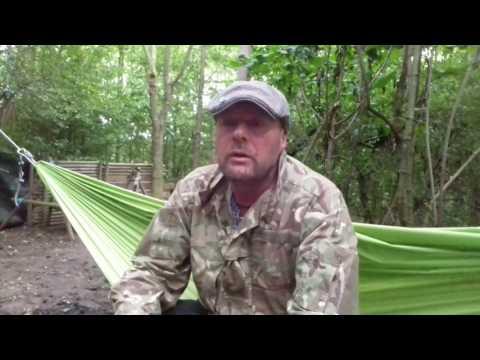 Aldi Adventure ridge hammock ..solo camp ..11/8/17
