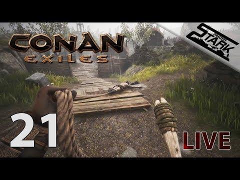 Conan Exiles - 21.Rész (Gyűjtögetés, Szolga szerzés) - Stark LIVE
