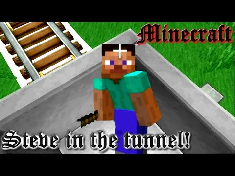 Minecraft! Steve in the tunnel!