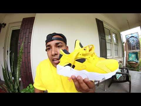 new-yellow-nike-air-huarache-shoe-review!!!
