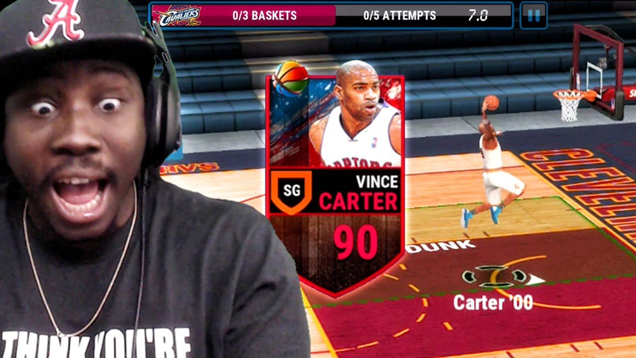 New Vince Carter Dunking Ballin Nba Live Mobile 16 Gameplay Ep 21 Youtube