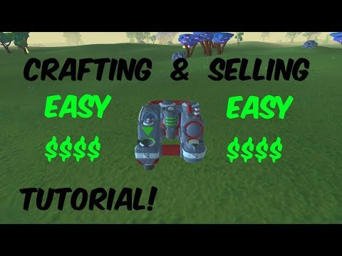 TerraTech Crafting & Selling Tutorial(Component Factory)
