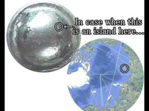 510+370+385 銅鏡に彫られた3D北極立体地図3D Map of North Pole of 1700 yrs ago