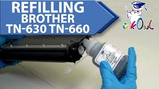 How to Refill a Brother TN-630 or TN-660 Cartridge