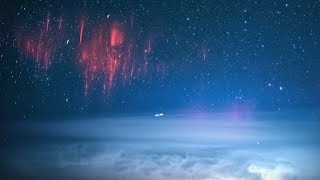 RED SPRITES - Over Beautiful Lightning Storm