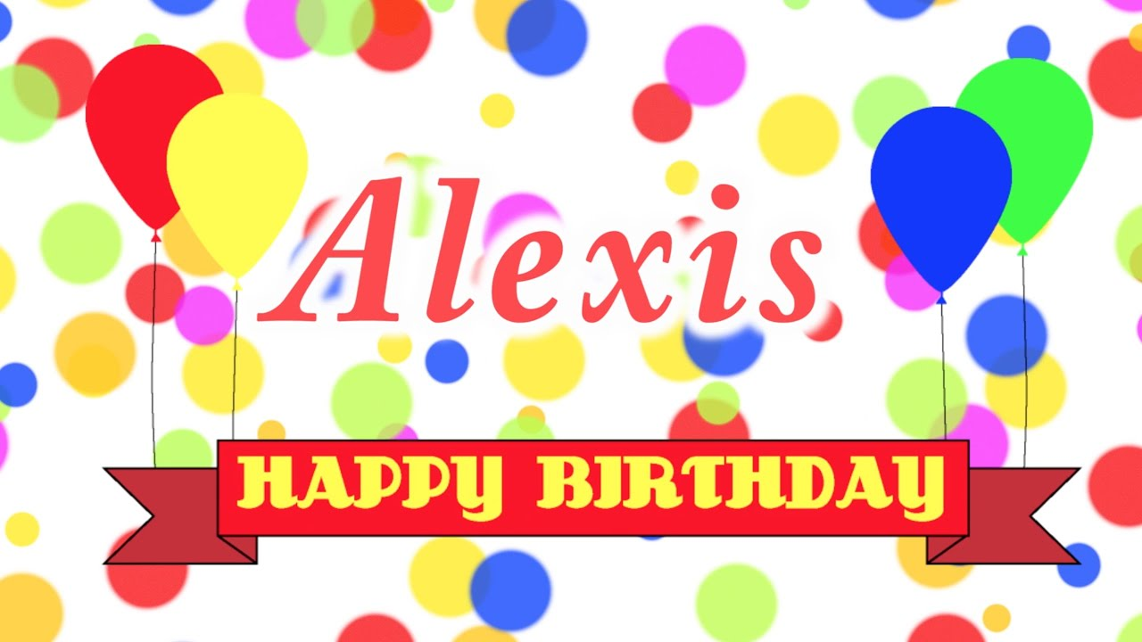happy birthday alexis coloring pages - photo#28