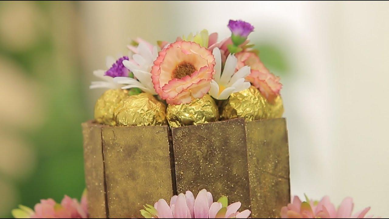 تزيين تورتة عيد ميلاد سفرة بالشيكولاتة : سالي فؤاد