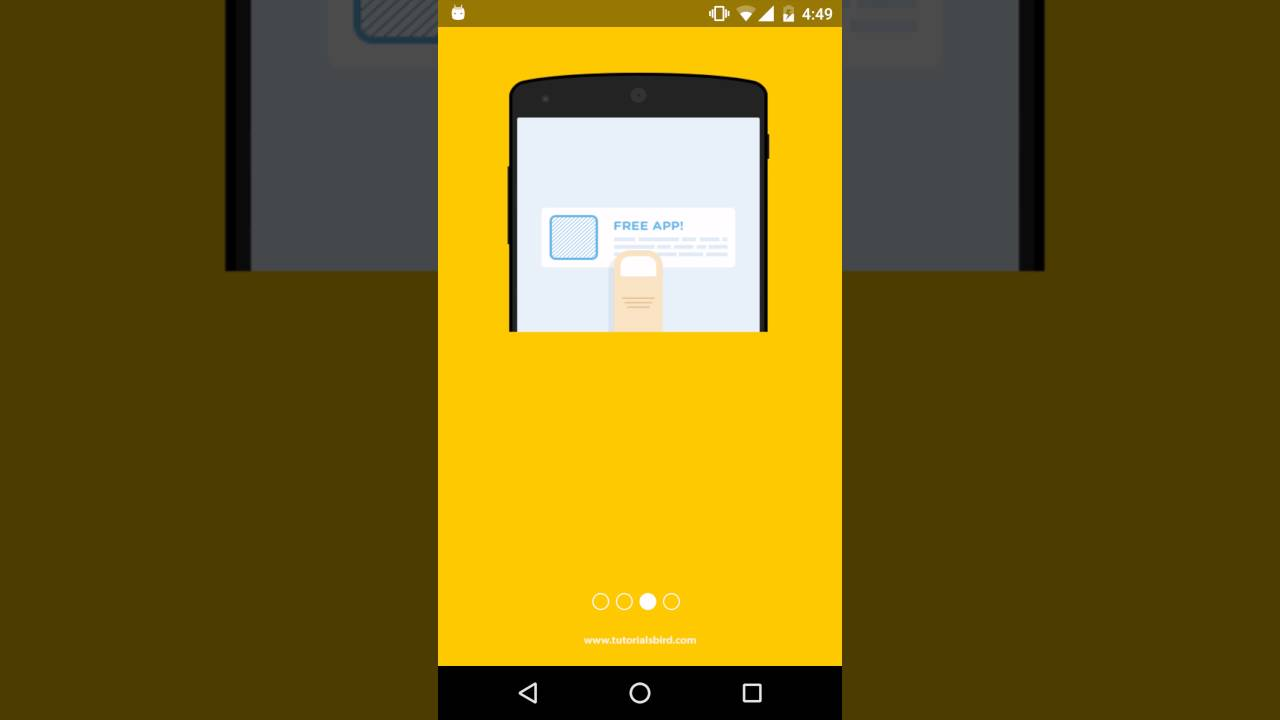 View Pager Indicator in android - YouTube