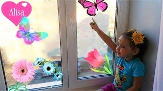 Украшаем окно к весне DIY ВЕСЕННИЙ ДЕКОР ДОМА Как Алиса украсила комнату к весне
