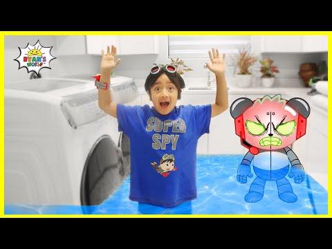 Robo Combo Flood Ryan's House Pretend Play!!