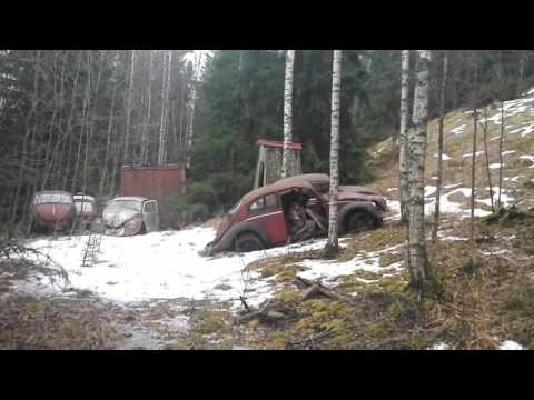 Abandoned Volkswagen graveyard - Lots of old VW Beetles